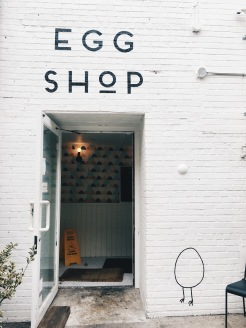 Outside of the Egg Shop