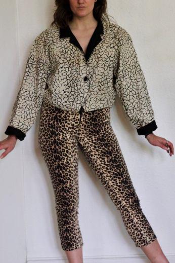 Image of animal print pants.