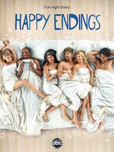 Image of the poster for the show Happy Endings.