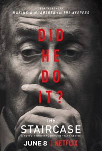 Image of the poster for the documentary series The Staircase.